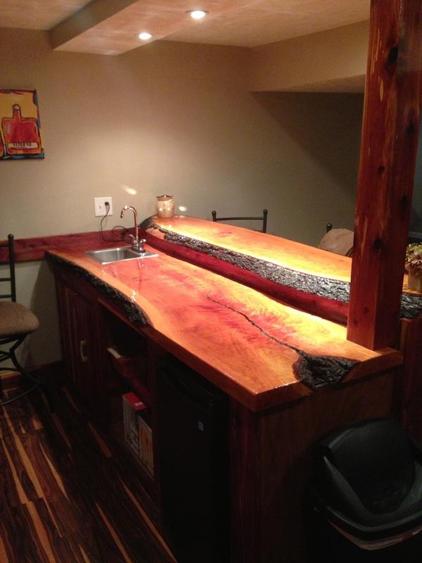 James Risinger Live Edge Cherry Bar Top Bagdad Lumber